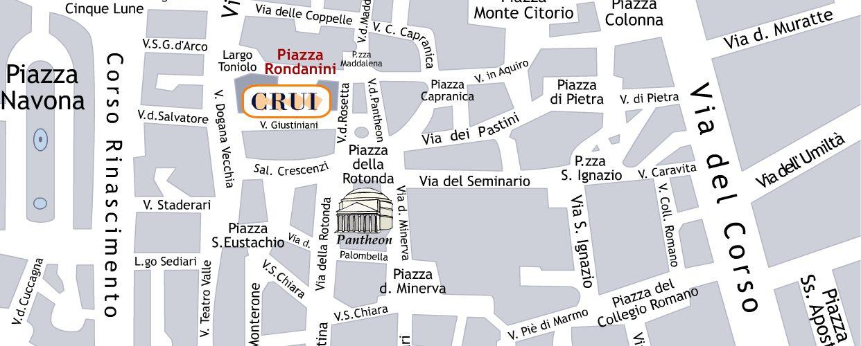 Mappa della Sede Fondazione CRUI